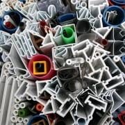 Selection of plastic extrusion products