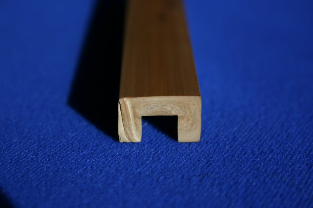 Teak effect synthetic decking trims plastic extrusion for boats
