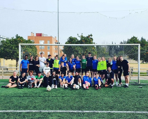 Chichester College Ladies' Football team is currently on training camp in Spain.