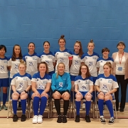 Photo of Chichester College Women's Football team with their new kit sponsored by D W Plastics Lts.