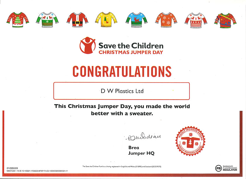 Save the Children, Charity Day at D W Plastics