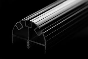 black plastic extrusion